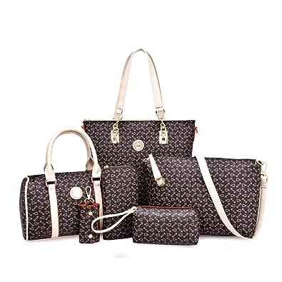 08d507bfd1c Women Handbag and Purse Shoulder Bag Tote Bag for Work 6 Piece Set Bag