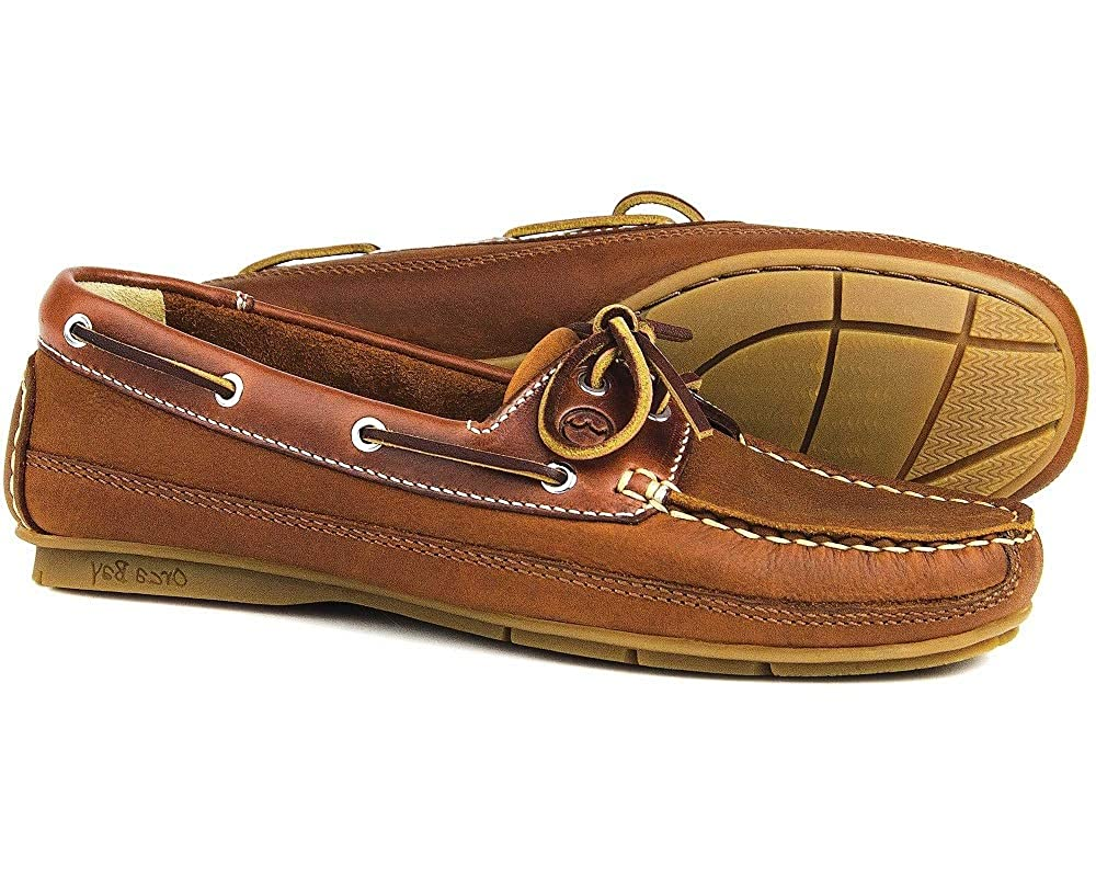 Ladies EU 40 Orca Bay CREEK Havana Leather Boat Shoe