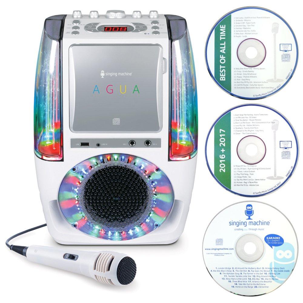Singing Machine SML605W AGUA Dancing Water Fountain Bluetooth ...