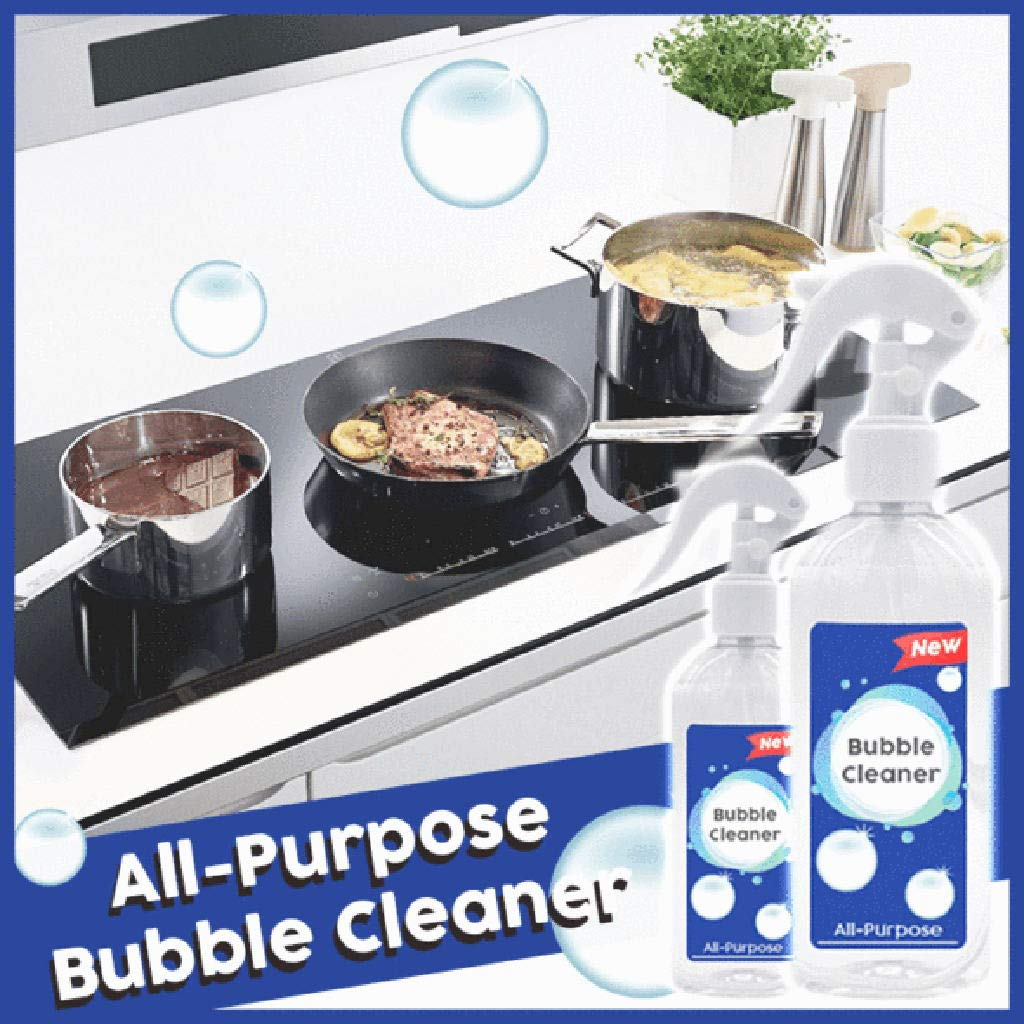 Fullwei 200ml Kitchen Grease Cleaner   Multi-Purpose Foam Cleaner All-Purpose Bubble Cleaner, 100% Non-Toxic & Grease-Free,Keep 3 Month (Rinse-Free)