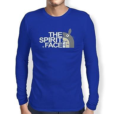 Texlab The Spirit Face - Herren Langarm T-Shirt, Größe S, Marine