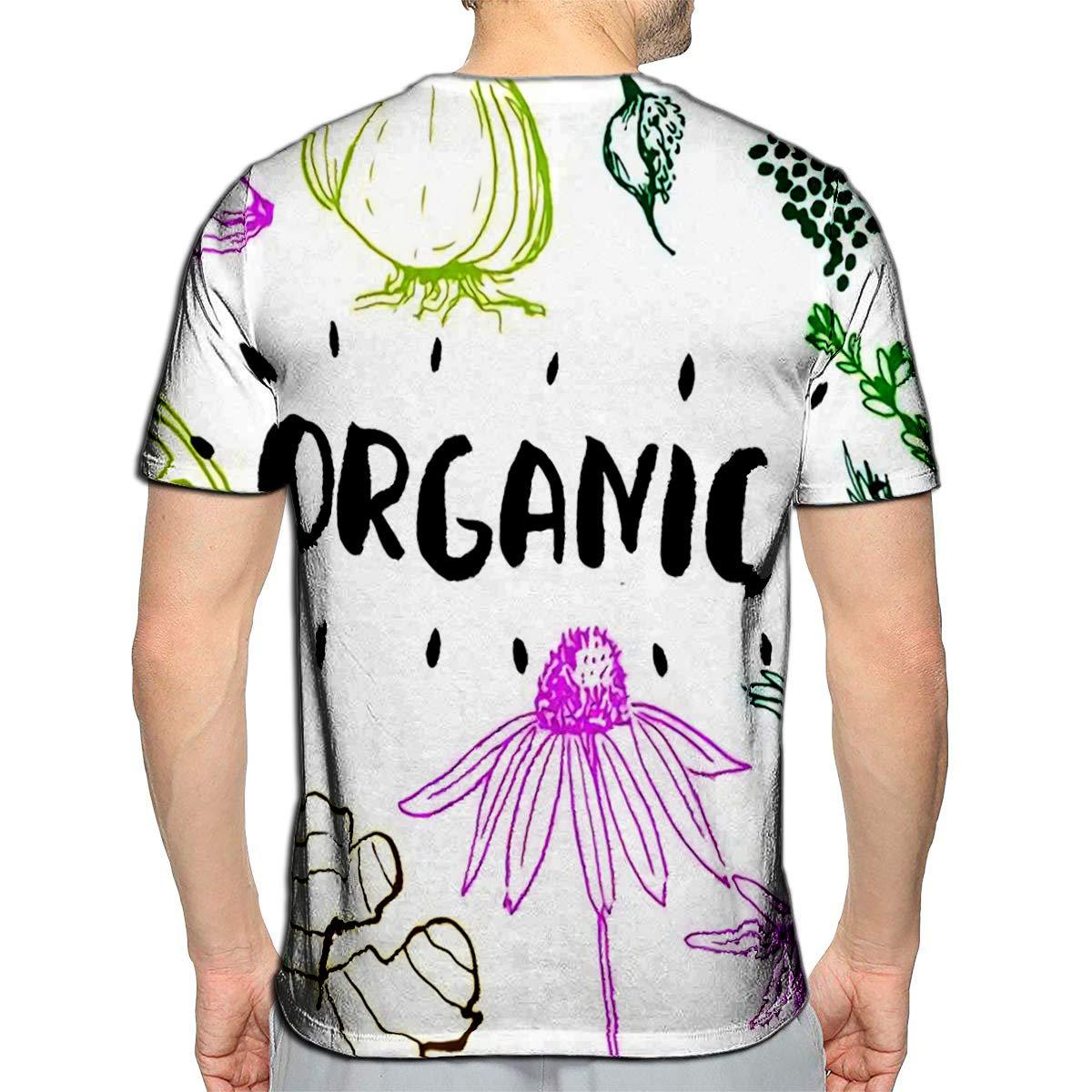 YILINGER 3D Printed T Shirts Tennis Casual Mens Hipster Top Tees
