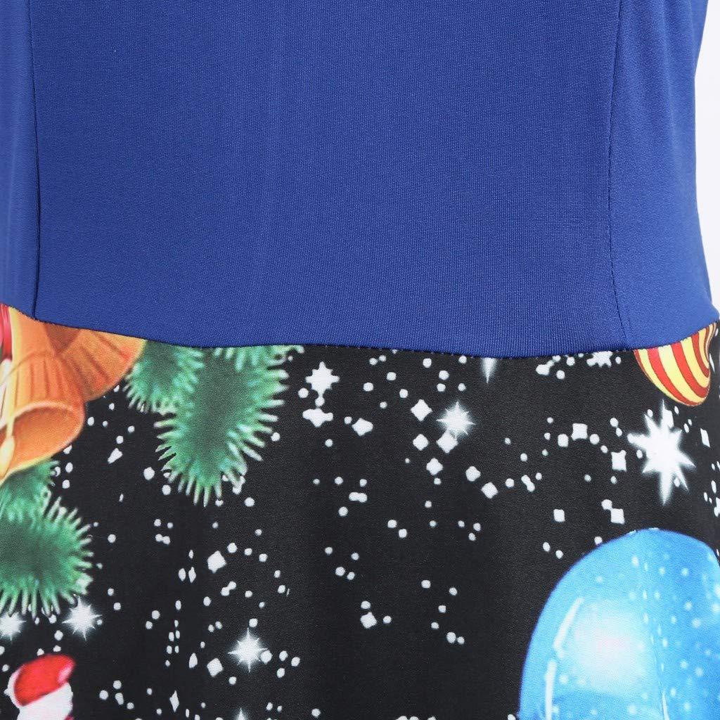 AMhomely Women Dresses Sale Womens Vintage Christmas Santa Claus Ladies Long Sleeves Dress Xmas Dress Plus Size Party Elegant Dresses Cocktail Evening Gowns UK Size Indian Beautiful