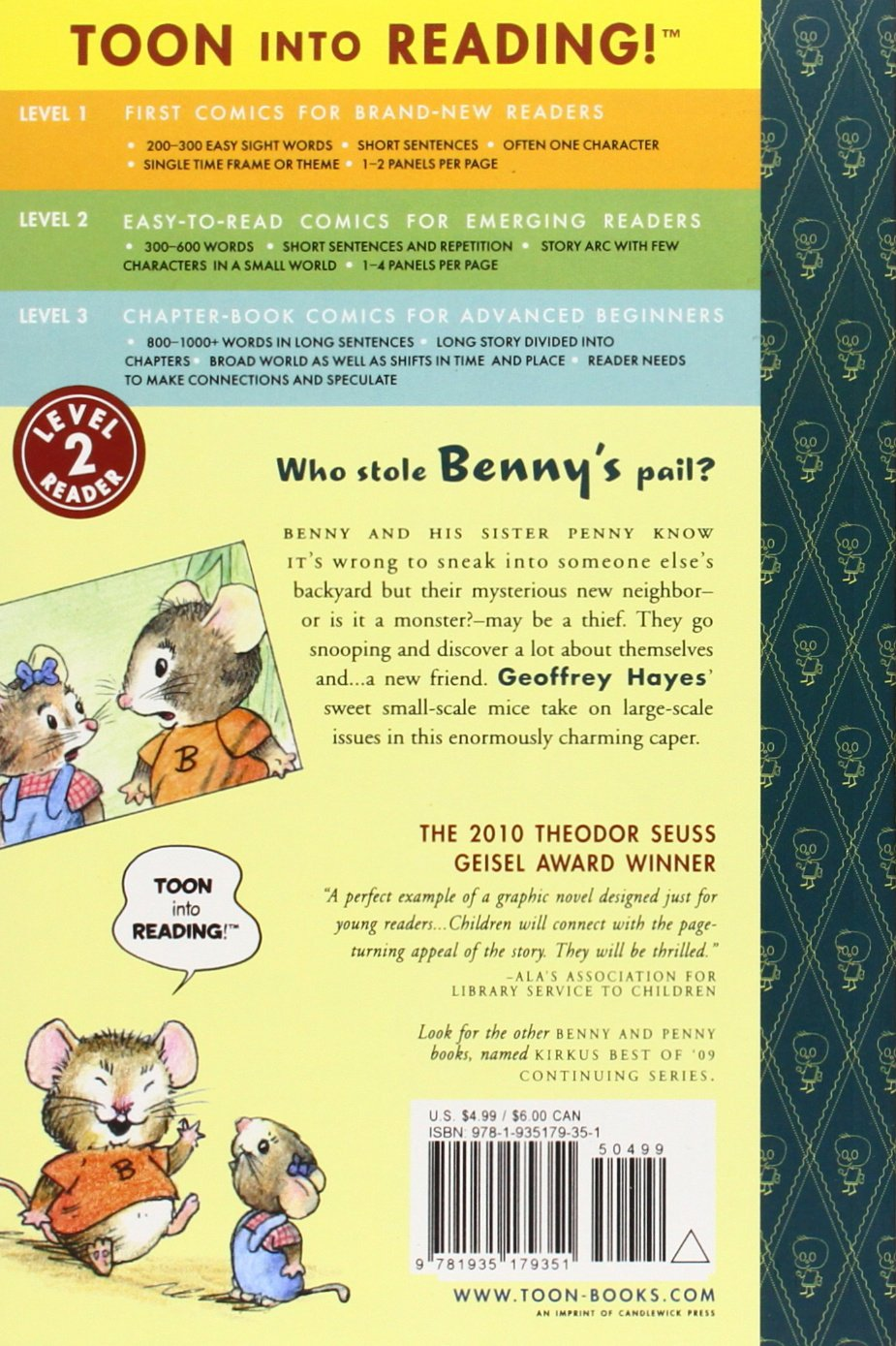 Amazon.com: Benny and Penny in the Big No-No!: TOON Level 2  (9781935179351): Geoffrey Hayes: Books
