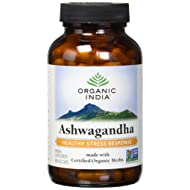 ORGANIC INDIA Ashwagandha Herbal Supplement Veg Capsules, Healthy Stress Response (180 Capsules)
