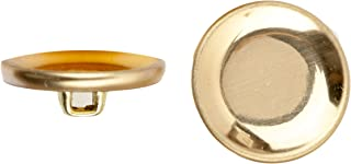 product image for C&C Metal Products Corp 5005 Inverted Metal Button, Size 36, Polished Gold Finish, 36-Piece