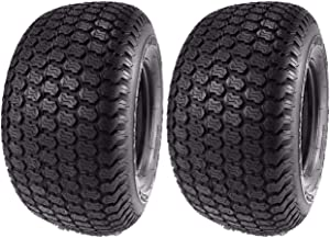 MowerPartsGroup (2) Kenda 16x6.50-8 Super Turf 4 Ply Tires K500 16x6.50x8 16x650-8 16x650x8