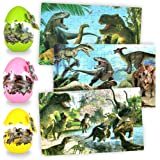 3 Pack Dinosaur Jigsaw Puzzles, 180 Pieces Puzzle with Dinosaur Eggs for Kids Age 3+ Years Old, Educational Learning Toy…