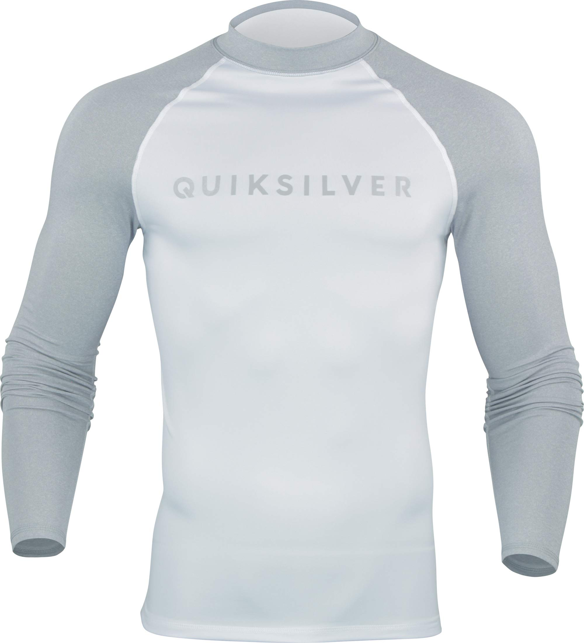Quiksilver Always There Men's Long-Sleeve Rashguards - Light Grey Heather/Small by Quiksilver