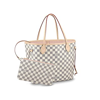 747cb5d0cfe0 Amazon.com  Louis Vuitton Damier Azur Canvas Neverfull MM N41605 Rose  Ballerine  Shoes