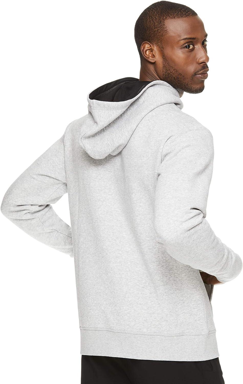 Reebok Performance Pullover Felpa da uomo con cappuccio e grafica Aero Grey Heather