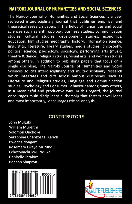 Buy Nairobi Journal of Humanities and Social Sciences: Njhs