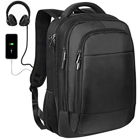 b8264fdcb3 Laptop Backpack,KUSOOFA Business Travel Backpack with USB Charging Port  Headphone Port for Men Women