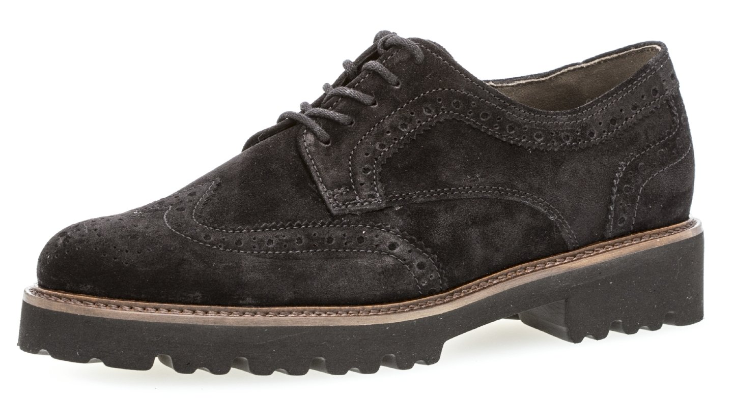 Gabor Chunky 13750 Lace 91.464 Up Suede Sweep - 91.464 Blk Suede 07ff6de - shopssong.space