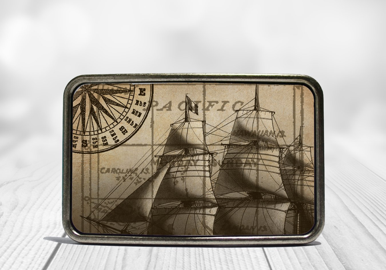 Nautical Ship Belt Buckle