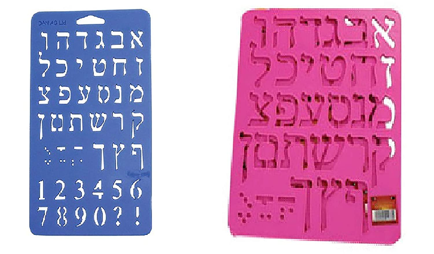 photograph relating to Hebrew Letter Stencils Printable referred to as Plastic Stencil of Hebrew Aleph Wager and Quantities (Varied Colours - Solitary Sheet - 7.85\