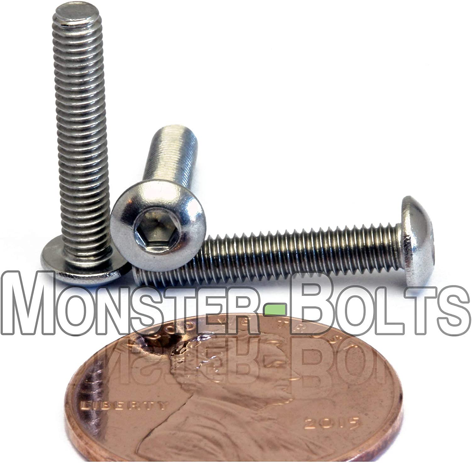 M3-0.50 x 12mm Stainless Steel Button Head Socket Hex Cap Screws A2 ISO 7380