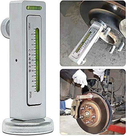 KKmoon Universal Magnetic Gauge Tool Camber Castor Strut Wheel Alignment for Truck Car Black