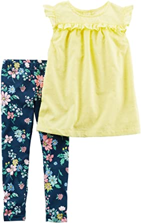 3839103da05a0 Image Unavailable. Image not available for. Color: Carters Baby Girls Tunic  Floral Leggings Set ...