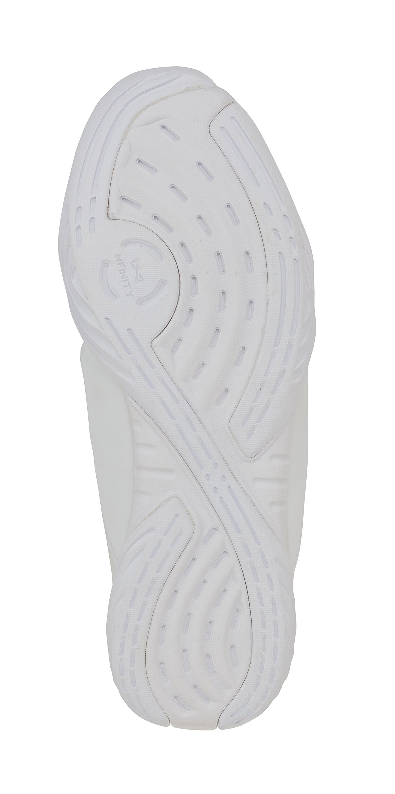 Nfinity Youth Evolution Cheer Shoes, White, Y13 by Nfinity (Image #2)