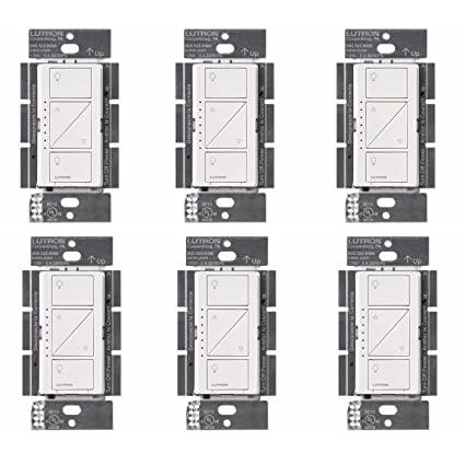 Lutron PD-6WCL-WH Caseta Wireless Smart Lighting Dimmer Switch, White (6 Pack) - - Amazon.com