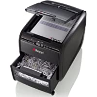 Rexel Auto Feed 60X 60 Sheet Cross Cut Shredder for Small Office Use (Up To 10 Users), 15L Bin, Black, Auto+ 60X, 2103060