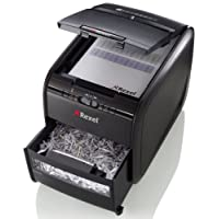 Rexel Auto Feed 60X 60 Sheet Cross Cut Shredder for Small Office Use (Up To 10 Users), 15L Bin, Includes Shredder Oil Sheets, Black, Auto+ 60X, 2103060