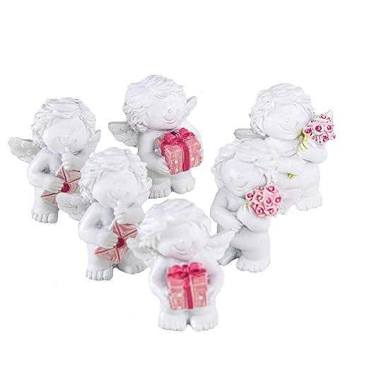 Logbuch-Verlag - Mini ángel de 5 cm Blanco y Rosa, Invitados ...