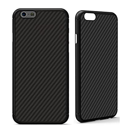 buy online c426d fabb4 iPhone 6 / 6s Case, Nillkin [Black] Ultra Slim Light Carbon Fiber Armor  Case Cover for iPhone 6 and iPhone 6s, Compatible with Magnetic Car Mounts