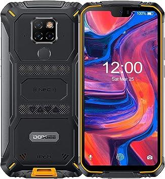 DOOGEE S68 Pro Android 9.0 Teléfono Móvil Libre Resistente 4G, Helio P70 Octa Core 6GB + 128GB, 4G IP68 Smartphone Antigolpes, 6300mAh 5.9 Inch FHD+, Cámara 21MP+16MP, NFC Carga Inalámbrica, Naranja: Amazon.es: