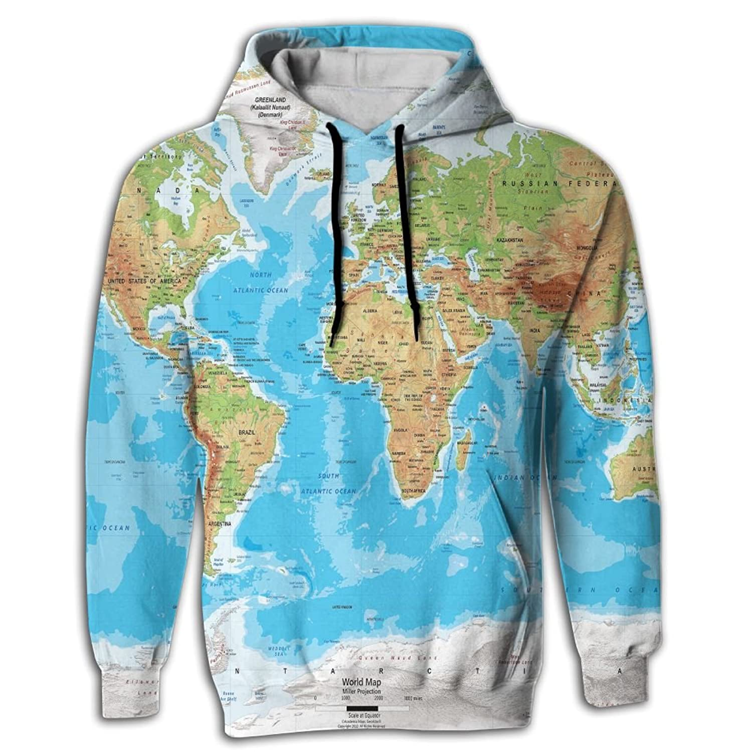 Great world map mens all over print long sleeve hoodie pullover great world map mens all over print long sleeve hoodie pullover blouse sweatshirt fricstar at amazon mens clothing store gumiabroncs Image collections