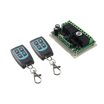haljia 12 V 4 ch canal 433 mhz Interruptor de control remoto ...