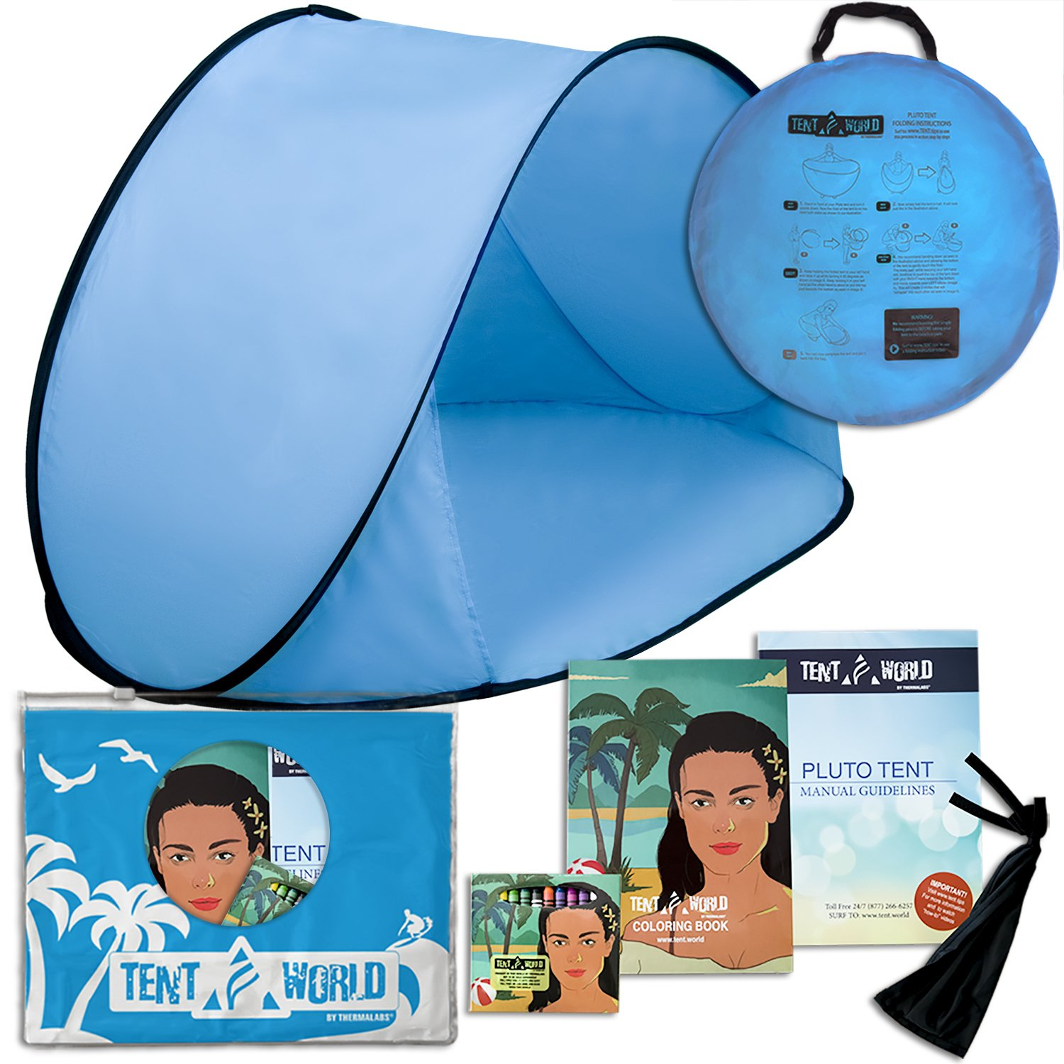 Baby Blue Pluto Sky Tent. Amazon's easy instant one step wind & sunshelter designed for your family to provide shade from the sun just like pacific umbrellas. Take our amazing tent cobana hut for your next sports park event! B01KHLO1IS