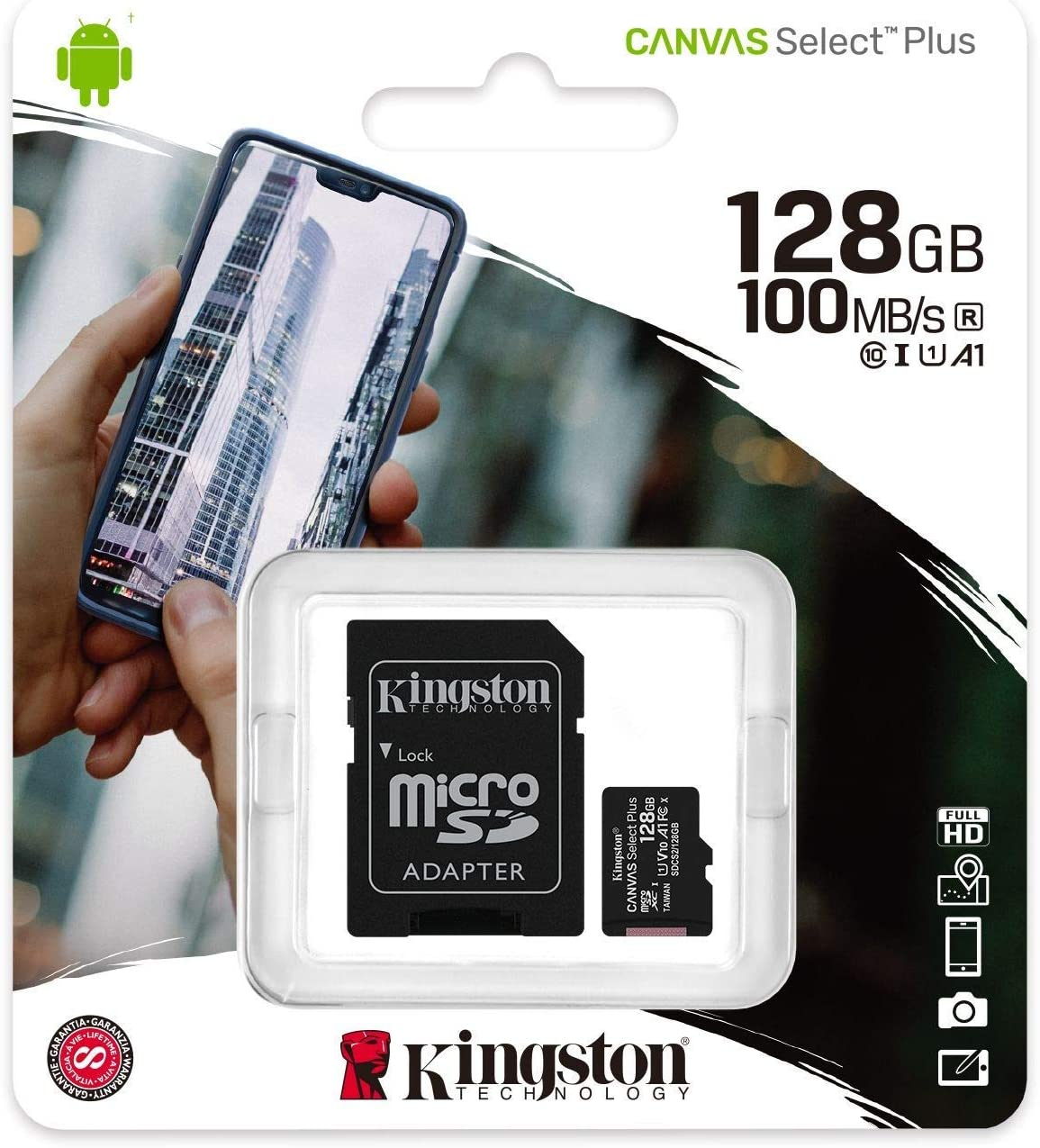 100MBs Works with Kingston Kingston 128GB Samsung SM-A415F//DS MicroSDXC Canvas Select Plus Card Verified by SanFlash.