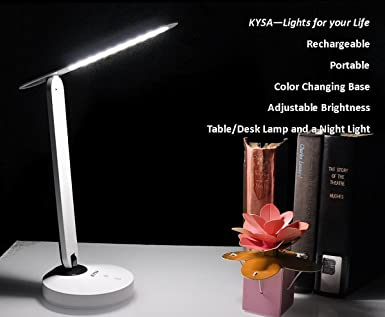 Portable rechargeable led tabledesk lamp with color changing base portable rechargeable led tabledesk lamp with color changing base and adjustable brightness white aloadofball Choice Image