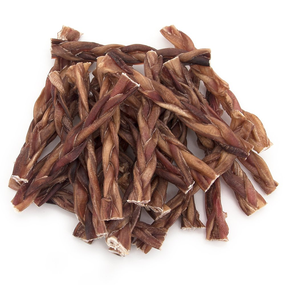 Best Pet Supplies GigaBite 9 Inch Odor-Free Braided Bully Sticks (25 Pack) – USDA & FDA Certified All Natural, Free Range Beef Pizzle Dog Treat