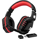 Trust GXT 390 Juga Auriculares inalámbricos para Gaming para PC y PS4, Color Negro