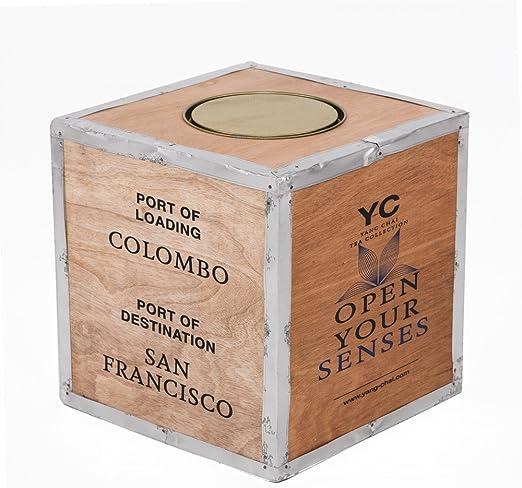 Original Caja de té de madera – Caja de té Ceilán – Vintage ...