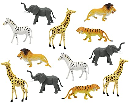 buy boley 12pc jumbo safari animals 9 assorted jungle animals