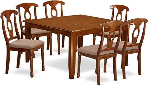 PFNA7-SBR-C 7 Pc Formal Dining room set for 6-Dining Table and 6 Dinette Chairs.