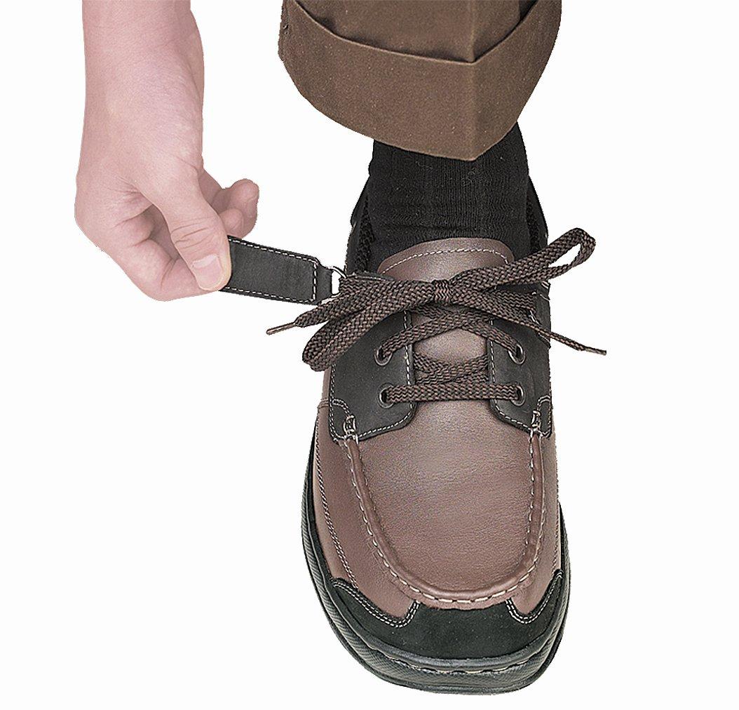 Orthofeet Baton Rouge Comfort Arthritis Orthopedic Mens Diabetic Boat Shoes Brown/Black Leather 11 XW US by Orthofeet (Image #3)
