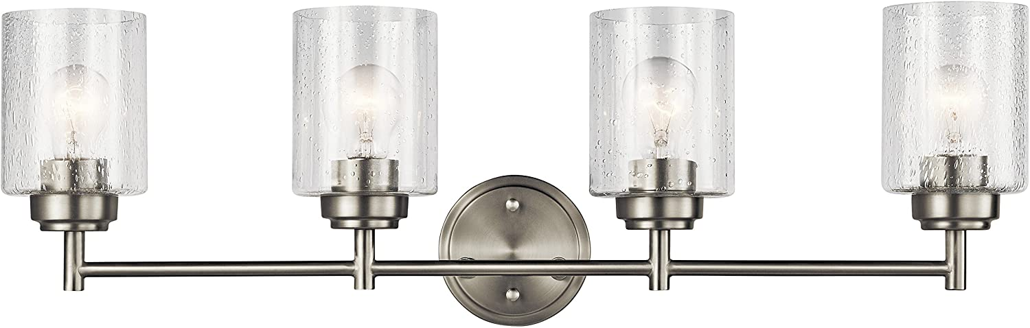Kichler Lighting 45887NI Four Light Bath from The Winslow Collection, Brushed Nickel