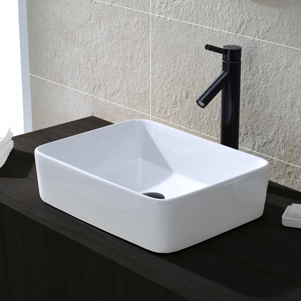 On Sale Comllen Above Counter White Porcelain Ceramic Bathroom Vessel Sink Ar