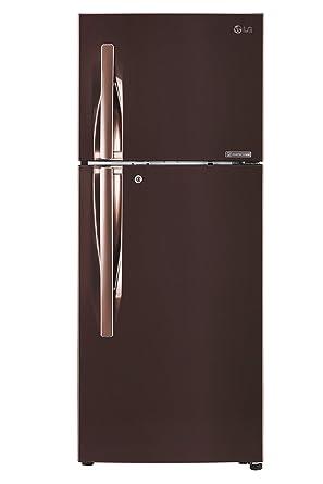 LG 260 L 4 Star Inverter Frost-Free Double-Door Refrigerator (GL-T292RASN, Amber Steel)