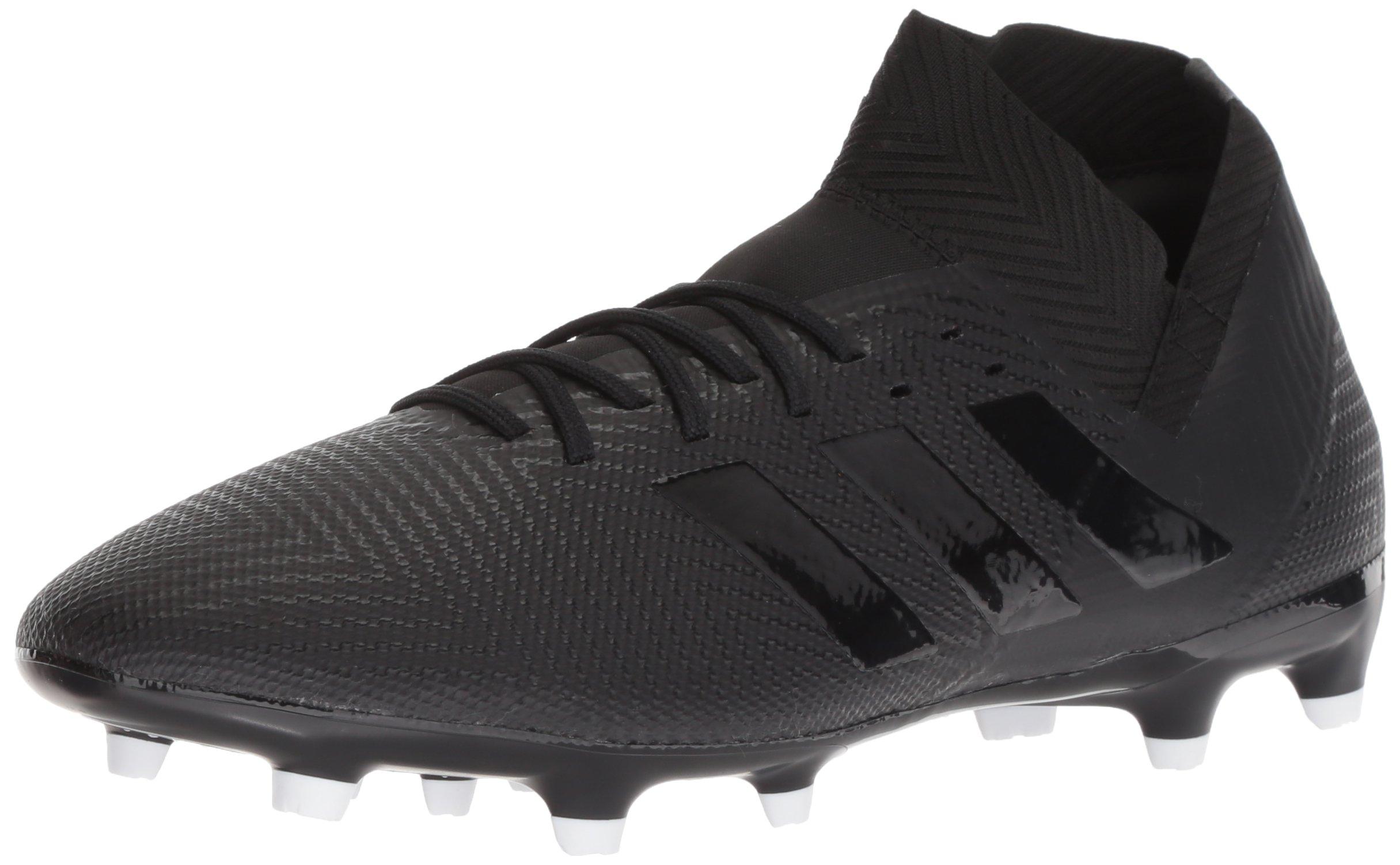 adidas Men's Nemeziz 18.3 Firm Ground Soccer Shoe, Black/Black/White, 8.5 M US by adidas