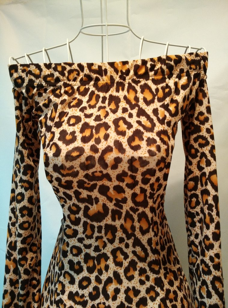 Bandeau Minikleid Leo Leopard Cocktailkleid Party Kleid Abendkleid