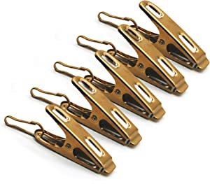 AITRAI Clothespins 60 Pack, Stainless Steel Clothes Pins Laundry Clips for Outdoor Clothesline Home Kitchen Travel Office Decor Food Bag (Gold)