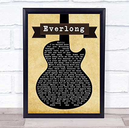 Everlong Song Lyric Vintage Script Quote Print