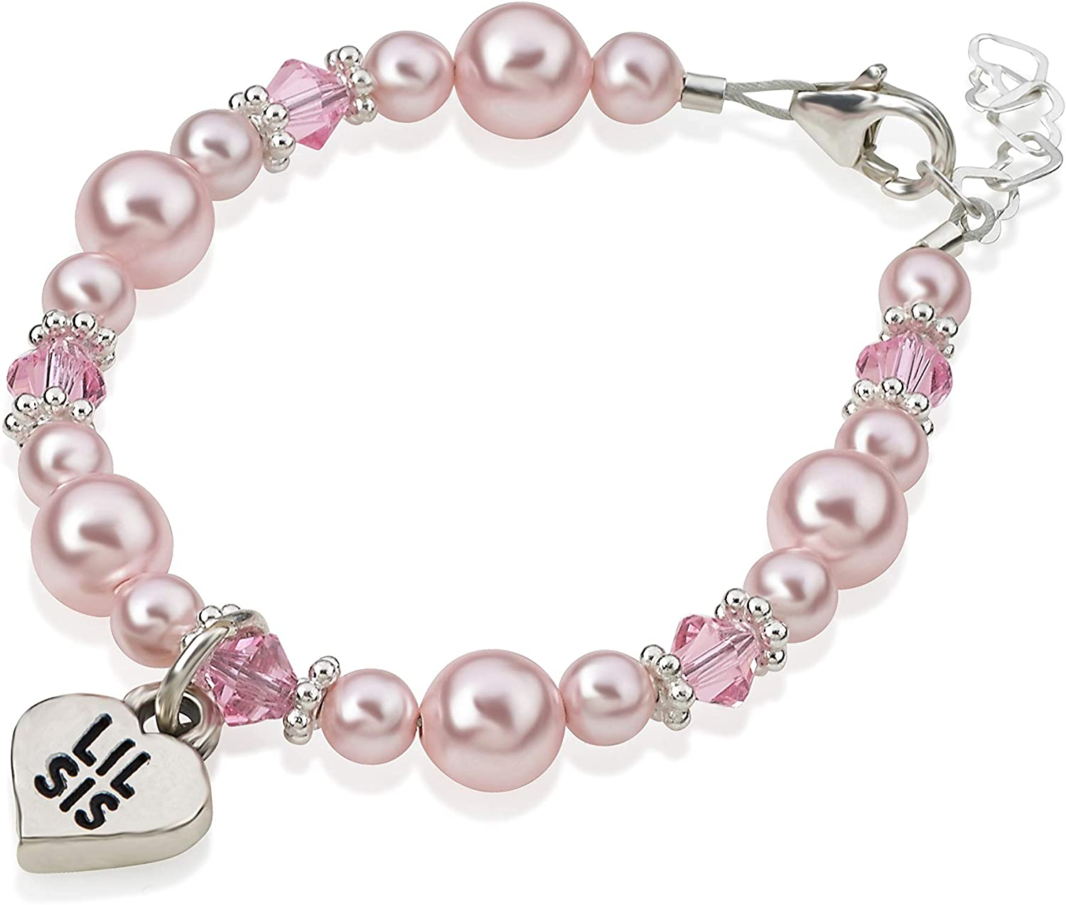 Mauve Crystal Pearl Charm Bead European Style made with Swarovski Elements