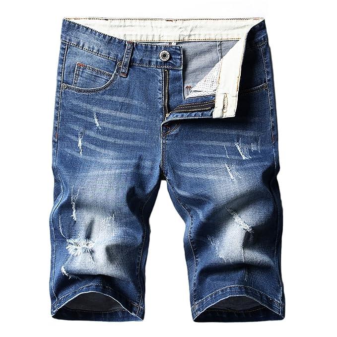 Amazon.com: invachi para hombre verano Slim Fit pantalones ...